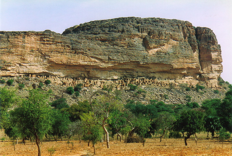 The Dogon village of Teli