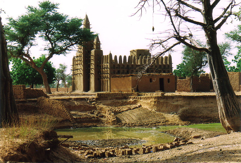 The Sahel mud mosque at Kani-Komboré