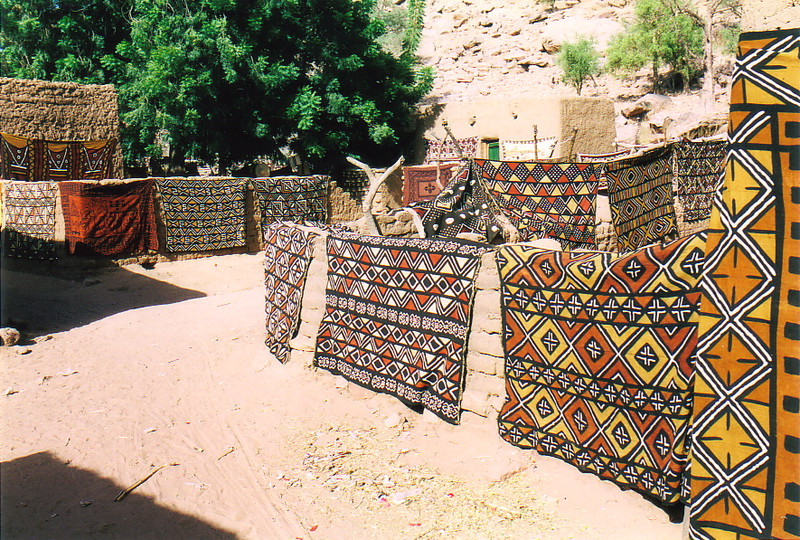Dogon textiles drying in the sun