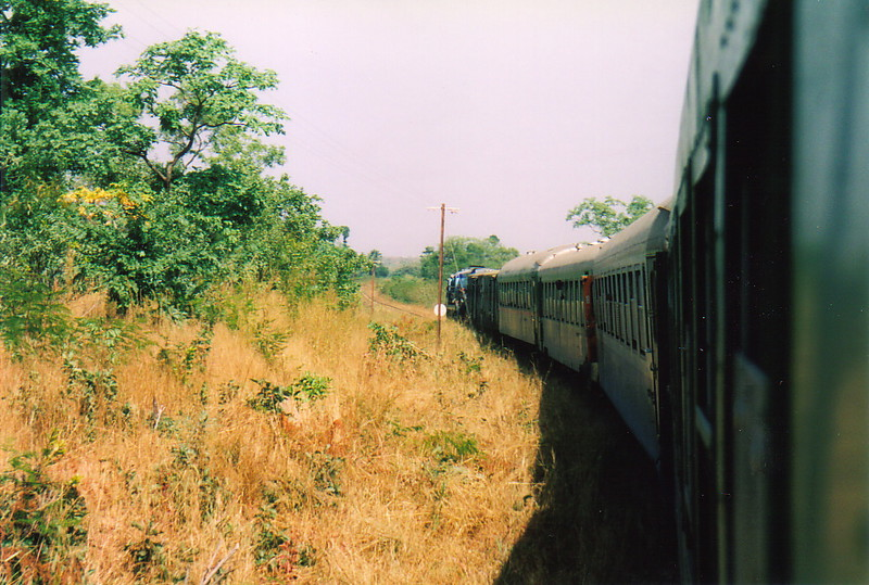 Looking towards the front of the Kayes-Bamako train