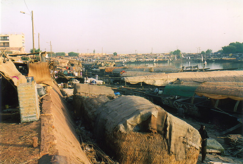 The harbour at Mopti