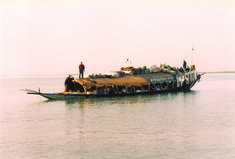 A pinasse on the River Niger