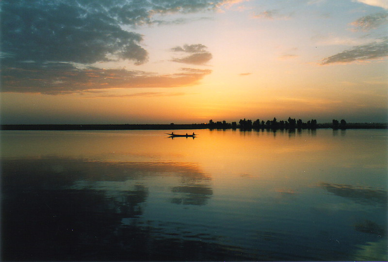 Sunset over the River Niger at Tonka