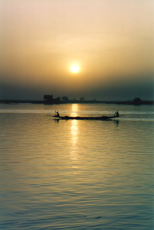 Sunset over the River Niger