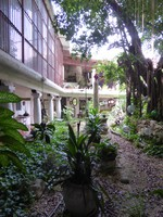 The courtyard at the centre of the hotel