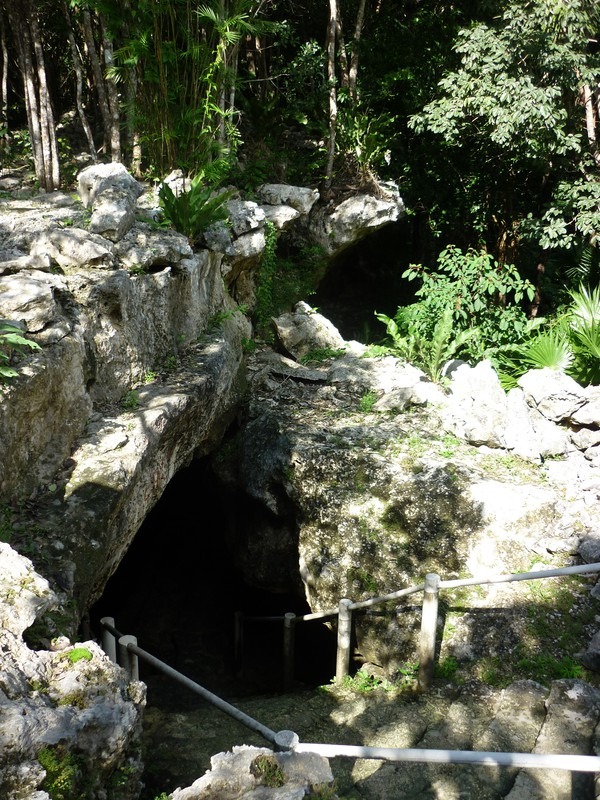 The entrance to the Little Brother cenote, Chac Mool