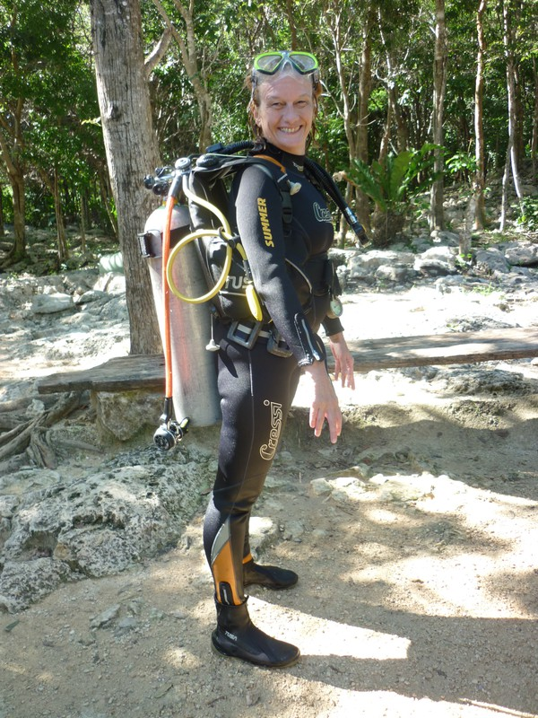 Peta after her second cenote dive