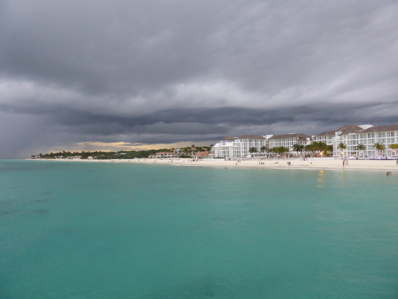 Storm clouds gathering over Playa del Carmen