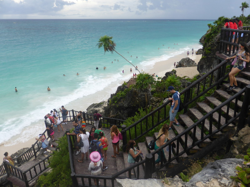 The beach at Tulum Ruinas