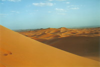 The dunes of Merzouga