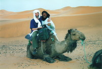 Mark, Hamid and a camel