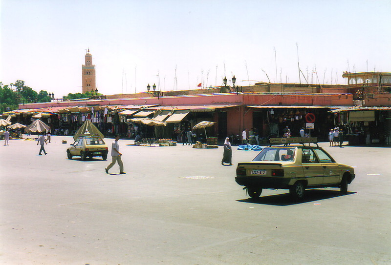 The western end of the Djemaa el-Fna