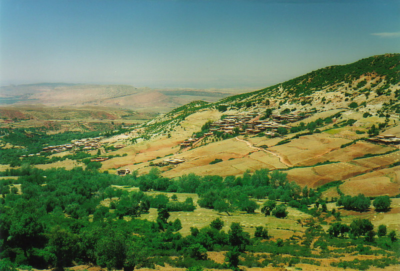 A village in the foothills of the Atlas Mountains