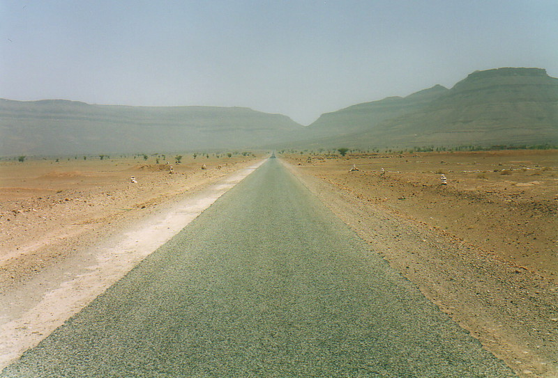 A road disappearing into the distance