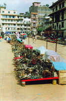 The market in Durbar Square