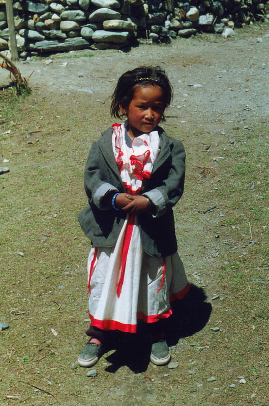 A little girl in Manang