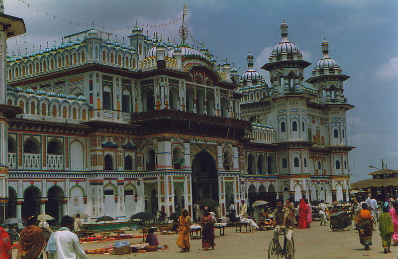 The Janaki Mandir in Janakpur