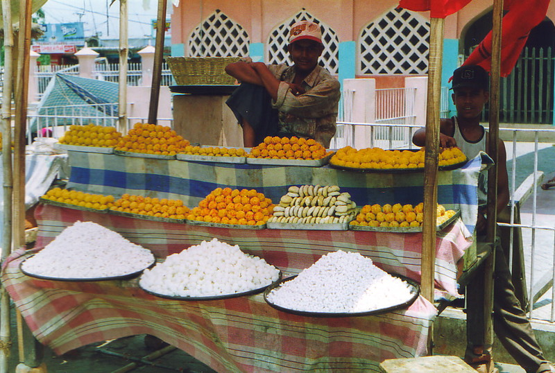Sweet sellers outside the Janaki Mandir