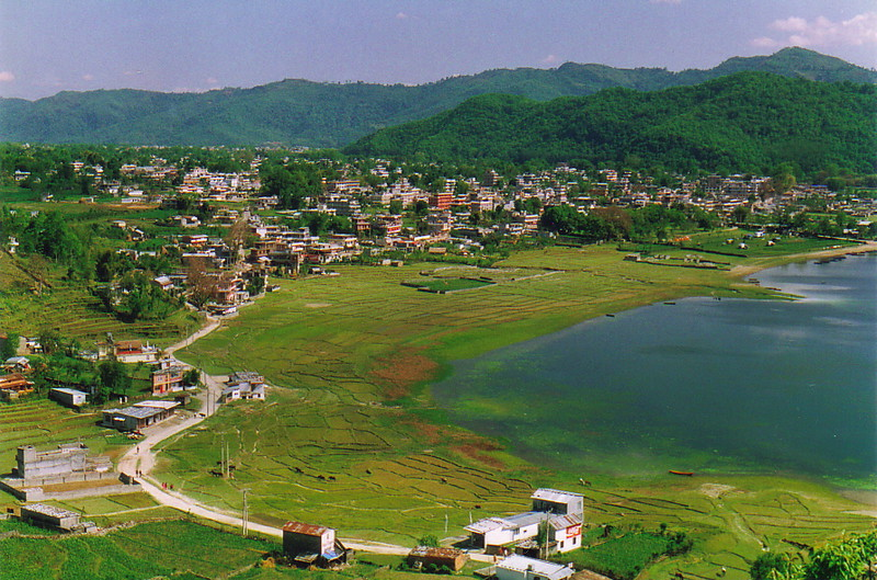 A view over northern Pokhara