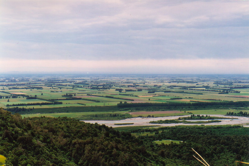The Canterbury plains from Peel Forest