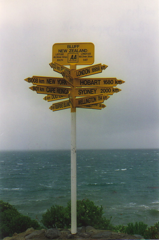 The signpost at Bluff