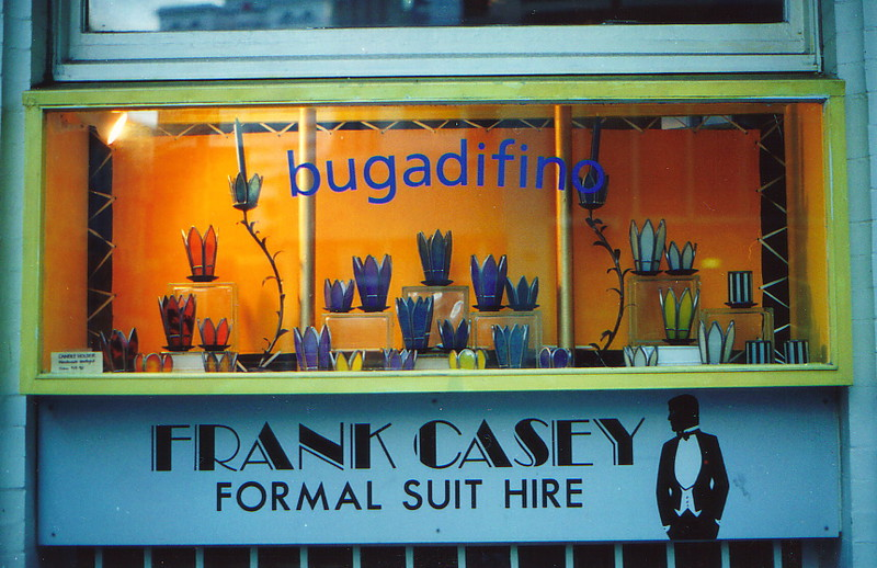 A shop window in Wellington called 'bugadifino'