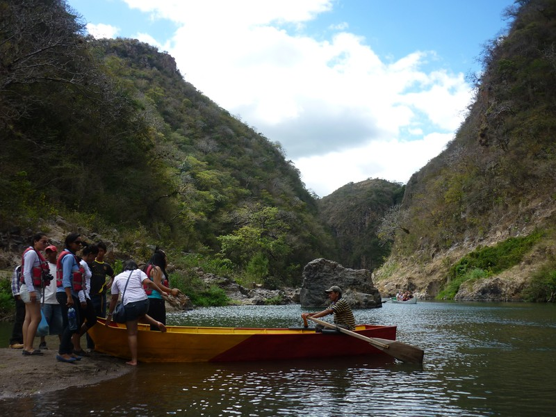 The boats that take you out of the eastern end of the canyon