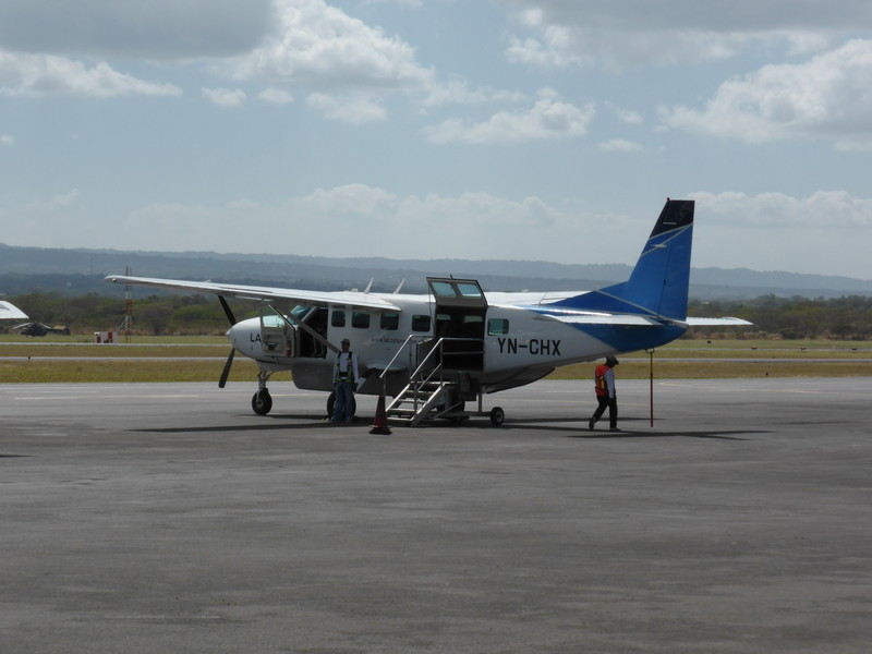 The 14-seater plane we took from Managua to the Corn Islands