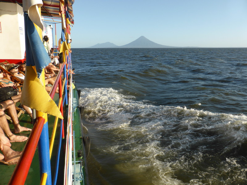 We had a great view of Ometepe from the starboard deck