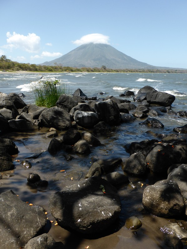 Volcán Concepción from Playa Santa Domingo