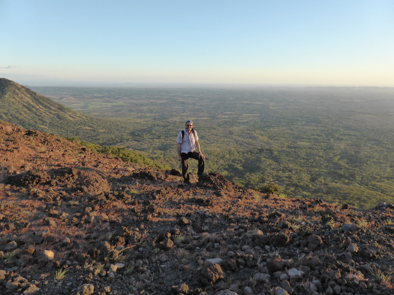Mark overlooking the southern plains of Nicaragua, towards the Pacific