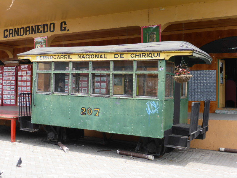 A train carriage from the railway that used to link Boquete to David