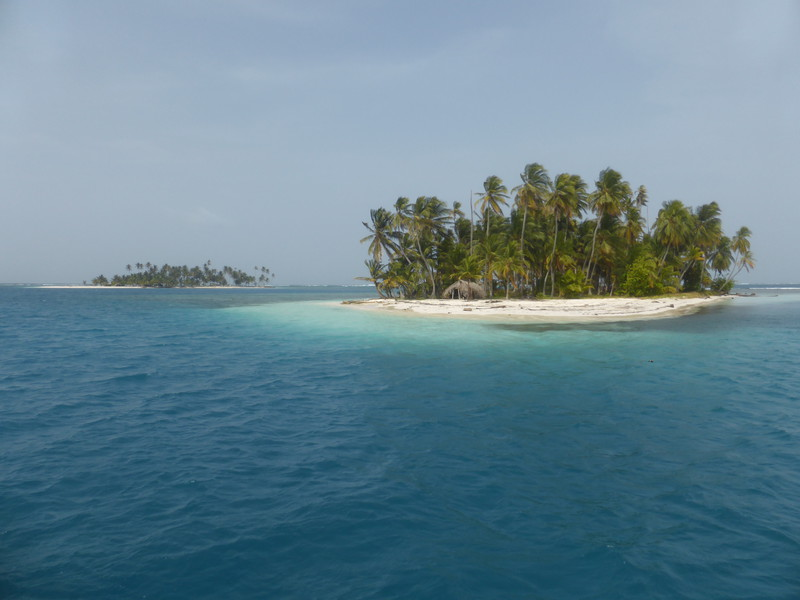 The view from our anchorage in the Cayos Coco Banderos