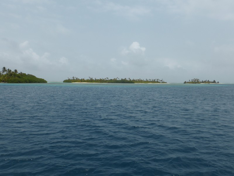 Some of the pretty islands of the Cayos Holandeses