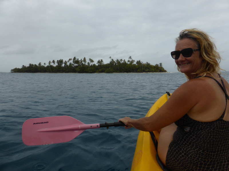 Kayaking in the Cayos Holandeses