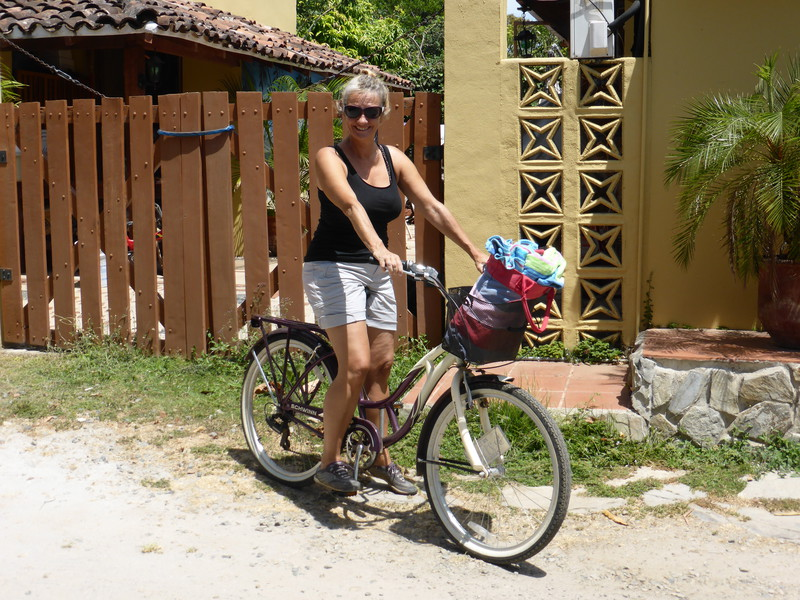 Peta getting ready to cycle to the beaches just out of town