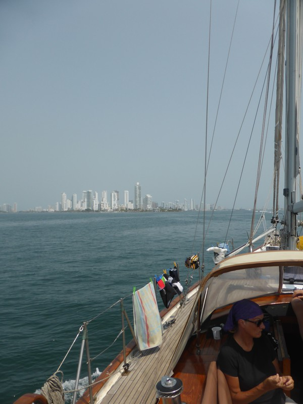 Approaching Cartagena