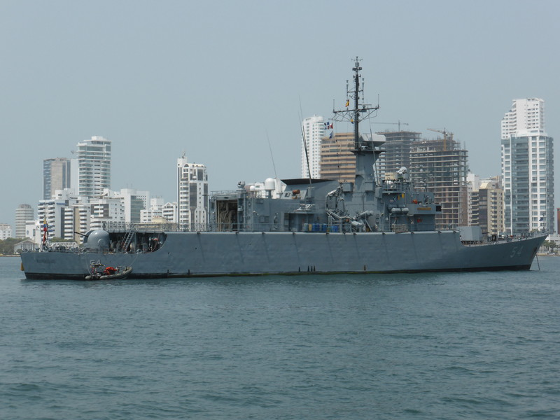 A naval ship in Cartagena