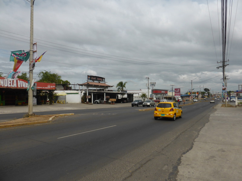Looking west along the Pan-American Highway