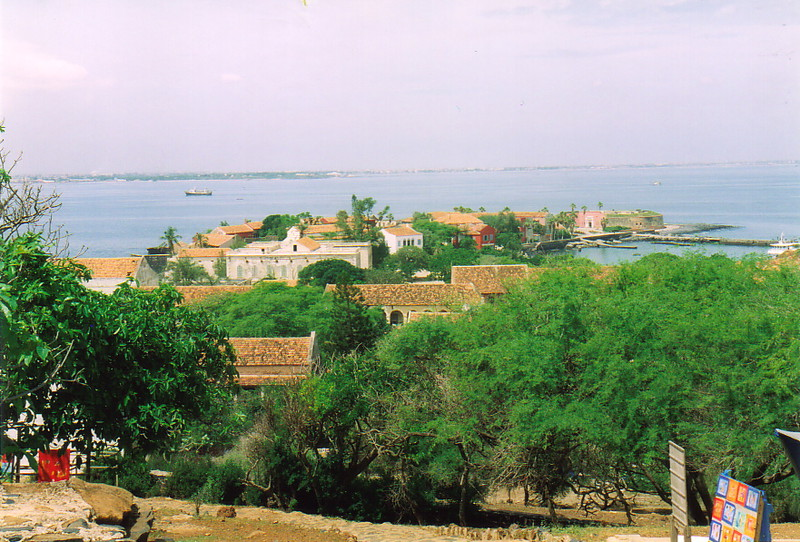 A view over the rooftops of Île de Gorée