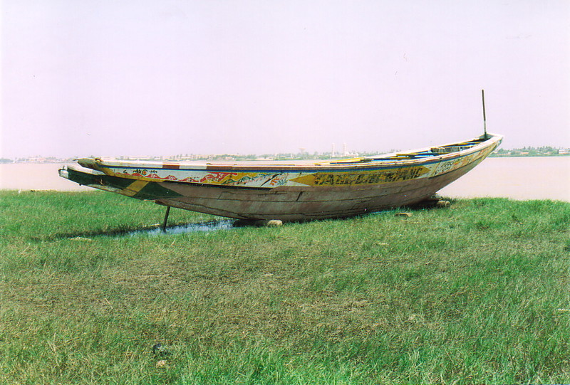 A fisherman's pirogue in the River Senegal