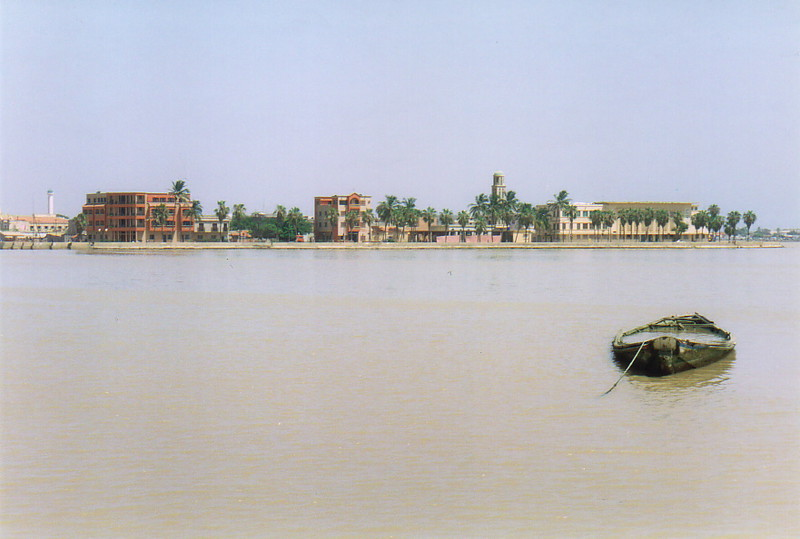 St-Louis from across the River Senegal