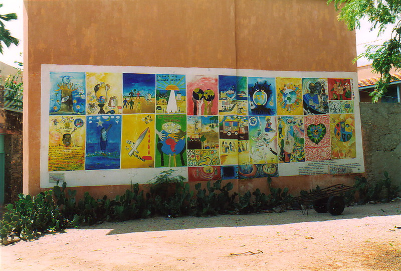 A colourful mural on Île de Gorée