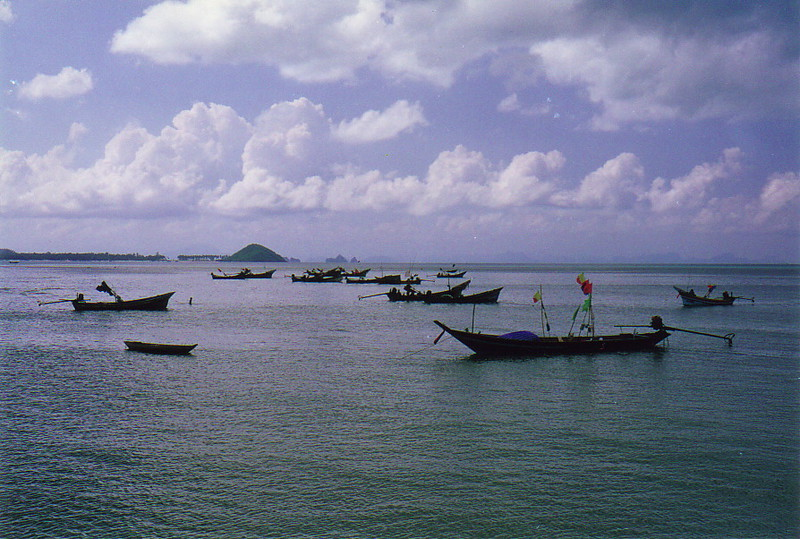Fishing boats at Na Thon