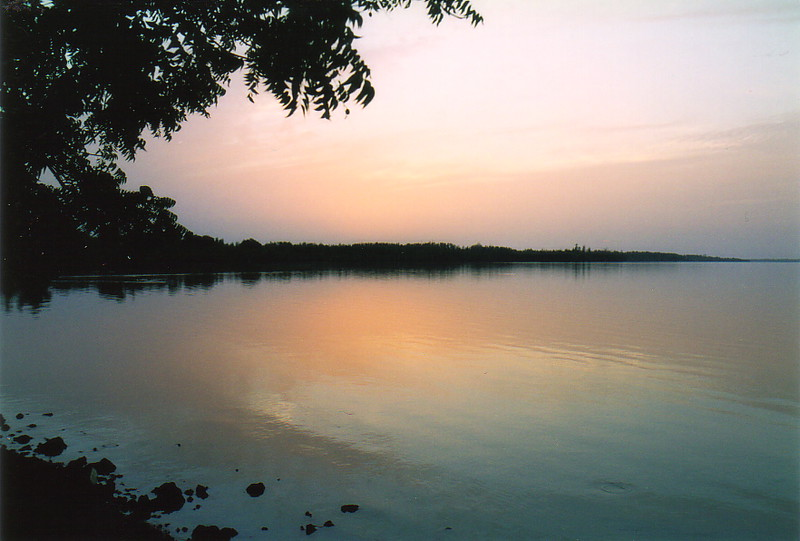 Sunset over the River Gambia at Tendaba Camp