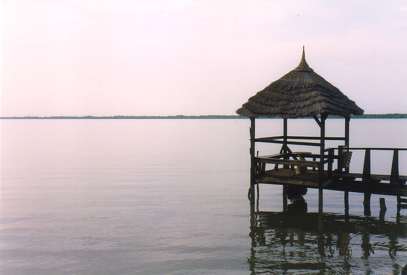 A pier on the River Gambia