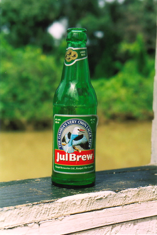 A bottle of Julbrew beer